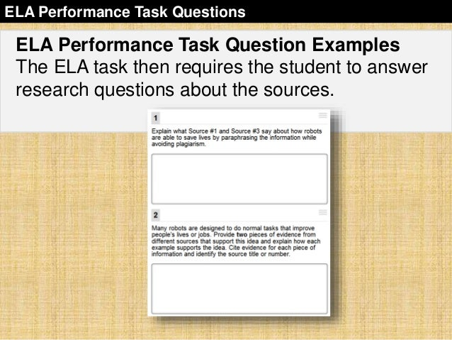 sbac-performance-task-overview-34-638 Overview Of Performance Tasks Example on example of constructed response, example of geometry, example of test, example of rate, example of skills, example of collaborative learning, example of holistic scoring, example of standards, example of literary luminary, example of vocabulary, example of project, example of technology, example of interview, example of problem solving, example of activity, example of multiple intelligences, example of bloom's taxonomy, example of iep, example of critical thinking, example of validity,
