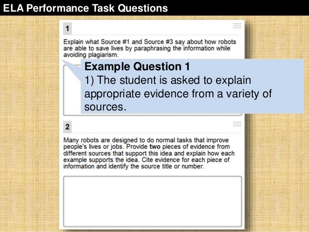 sbac-performance-task-overview-35-638 Overview Of Performance Tasks Example on example of constructed response, example of geometry, example of test, example of rate, example of skills, example of collaborative learning, example of holistic scoring, example of standards, example of literary luminary, example of vocabulary, example of project, example of technology, example of interview, example of problem solving, example of activity, example of multiple intelligences, example of bloom's taxonomy, example of iep, example of critical thinking, example of validity,