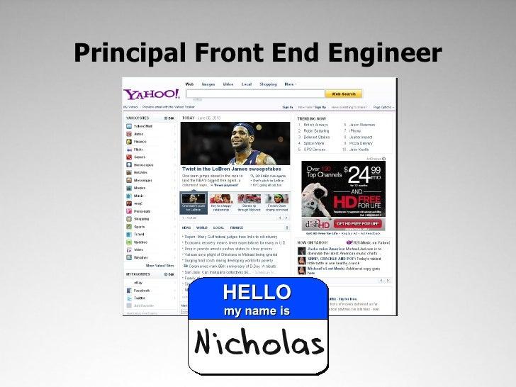 Performance on the Yahoo! Homepage Slide 3
