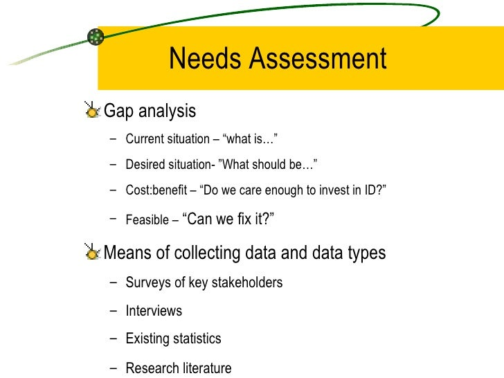 Performance Analysis And Needs Assessment