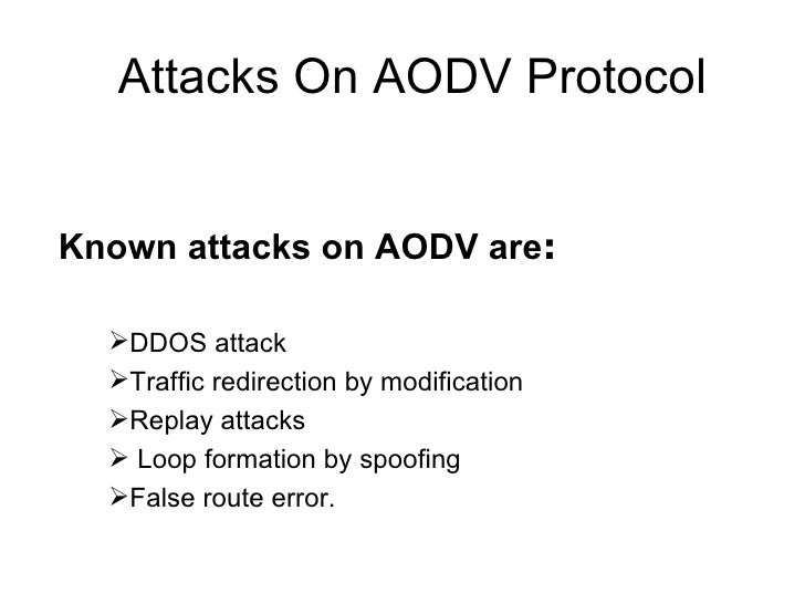 performance analysis of aodv protocol on blackhole attack