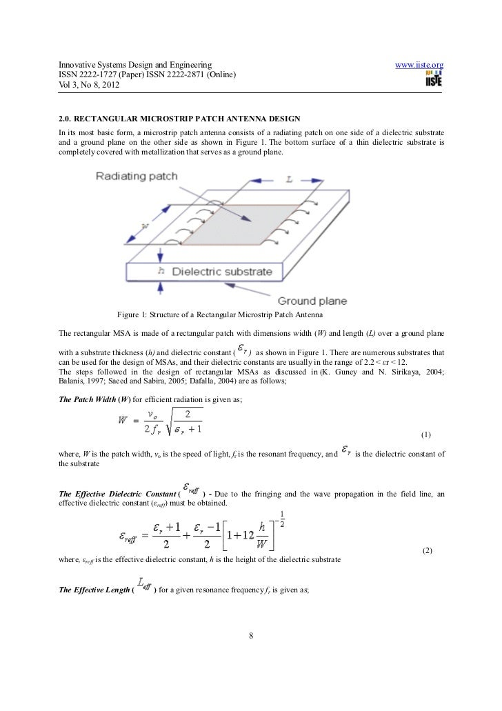 performance enhancement of rectangular micro strip patch Enhancement of gain of rectangular micro strip antenna using multilayer multidielectric structure wwwiosrjournalsorg 36   p a g e the paper is organized as follows: section 2 presents the brief literature survey about microstrip antenna and.