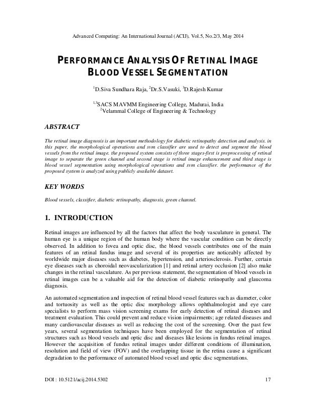 Advanced Computing: An International Journal (ACIJ), Vol.5, No.2/3, May 2014 DOI : 10.5121/acij.2014.5302 17 PERFORMANCE A...