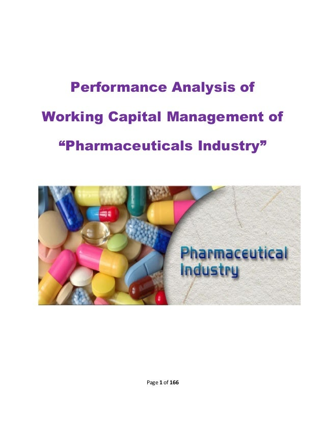 """Performance Analysis of Working Capital Management of """"Pharmaceuticals Industry""""  Page 1 of 166"""