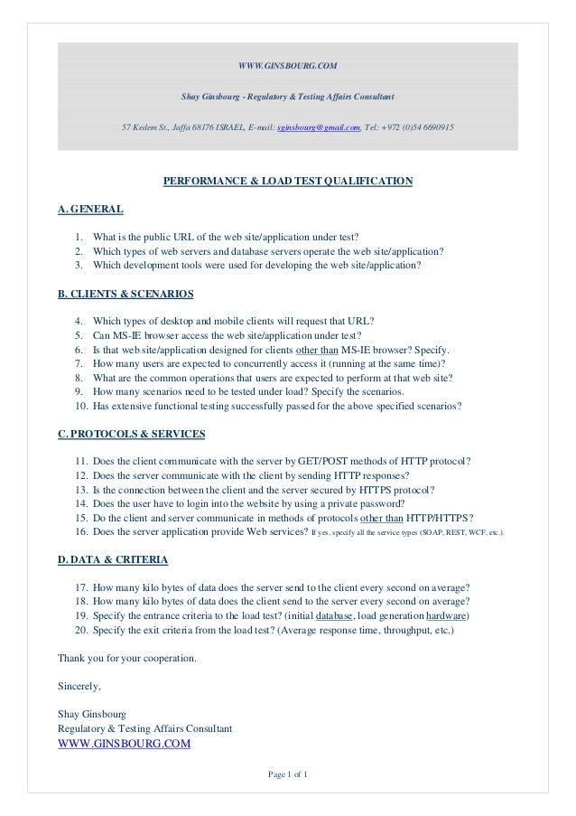 WWW.GINSBOURG.COM  Shay Ginsbourg - Regulatory & Testing Affairs Consultant  57 Kedem St., Jaffa 68176 ISRAEL, E-mail: sgi...
