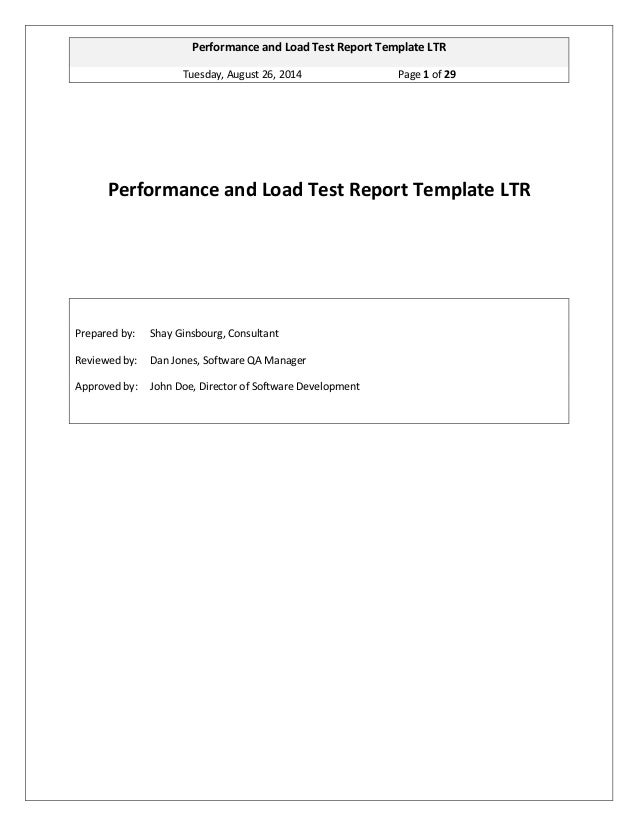 Ginsbourg.com - Performance and Load Test Report Template LTR 1.2