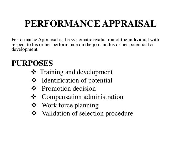 Performance appraisal of wiut