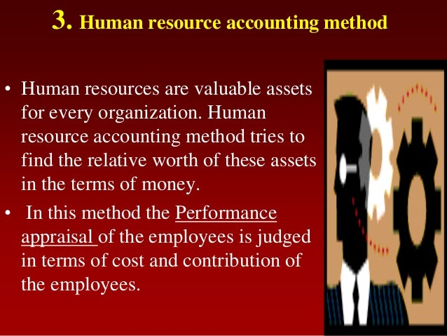3. Human resource accounting method• Human resources are valuable assetsfor every organization. Humanresource accounting m...