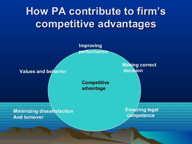 How PA contribute to firm'sHow PA contribute to firm's competitive advantagescompetitive advantages Improving performance ...