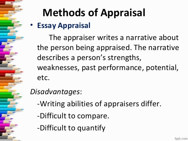 Narrative essay appraisal method