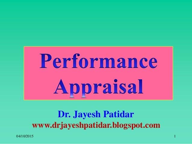 Dr. Jayesh Patidar www.drjayeshpatidar.blogspot.com 04/10/2015 1