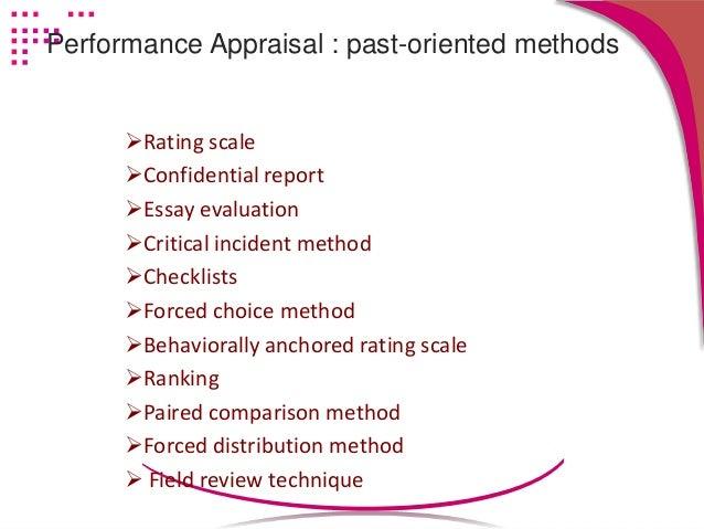essay evaluation appraisal method