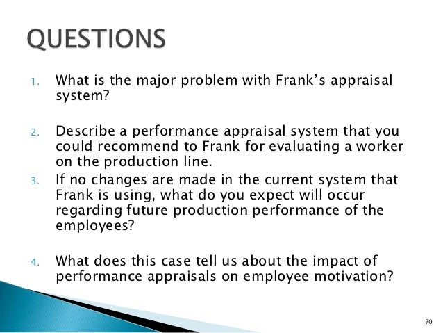 the case of the performance appraisal frank Conducting an effective performance appraisal  they have performance management this is not the case  exchange of views – a frank.