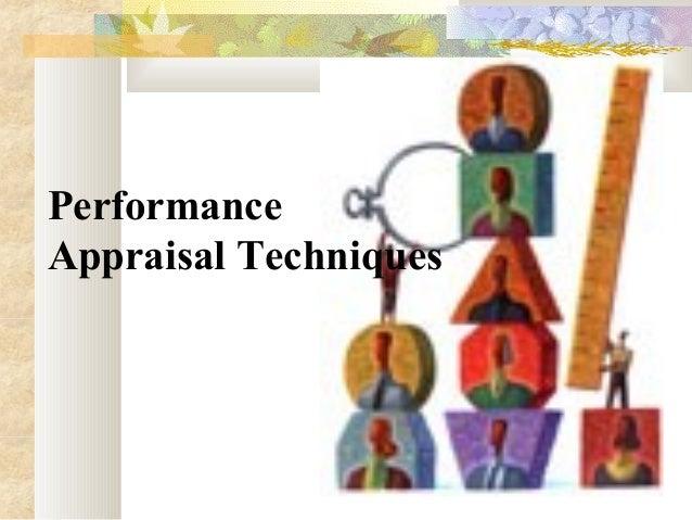 Performance Appraisal Techniques