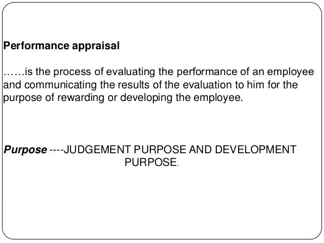 Performance Appraisal Module Iii