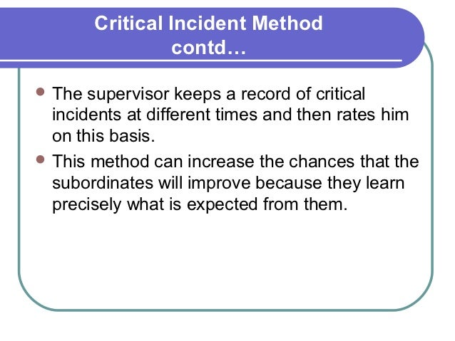 critical incident assignment