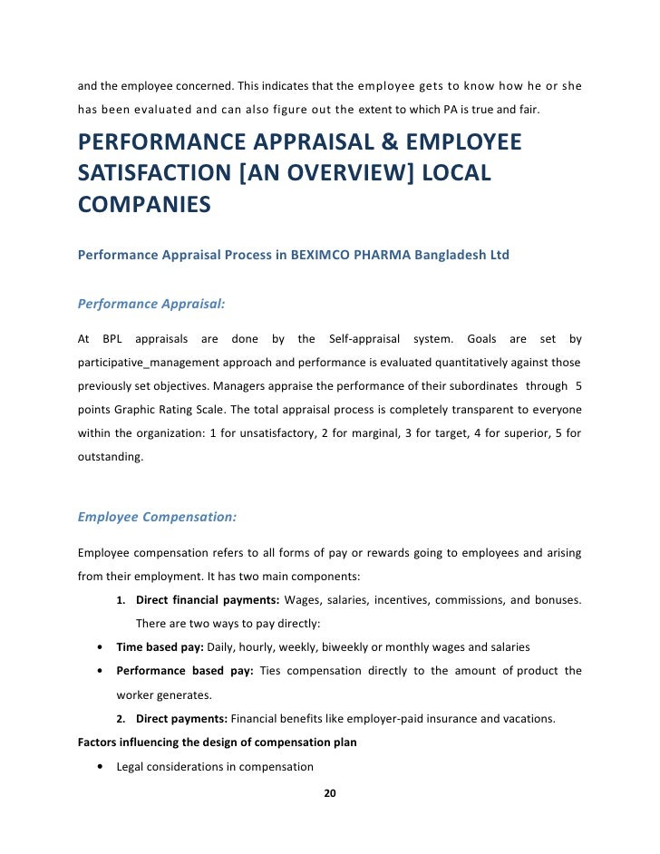 Performance appraisal employee satisfaction in pharmaceutical indus 20 and spiritdancerdesigns Images