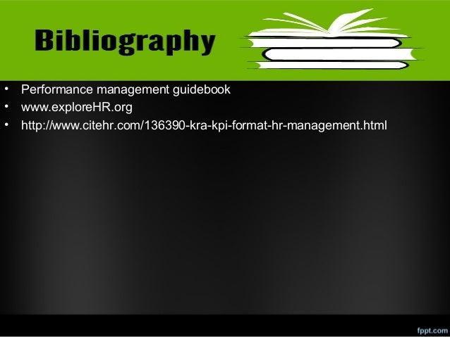 • • •  Performance management guidebook www.exploreHR.org http://www.citehr.com/136390-kra-kpi-format-hr-management.html