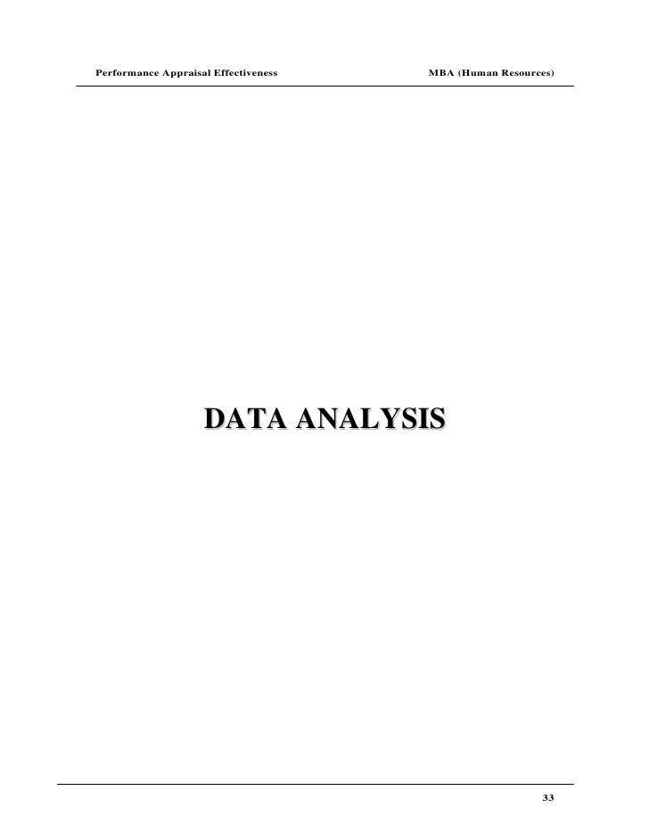 data collection and analysis for performance appraisal Chapter 4 an overview of multi-criteria analysis  methods with qualitative data 138  approach to appraisal, which uses a form of performance.