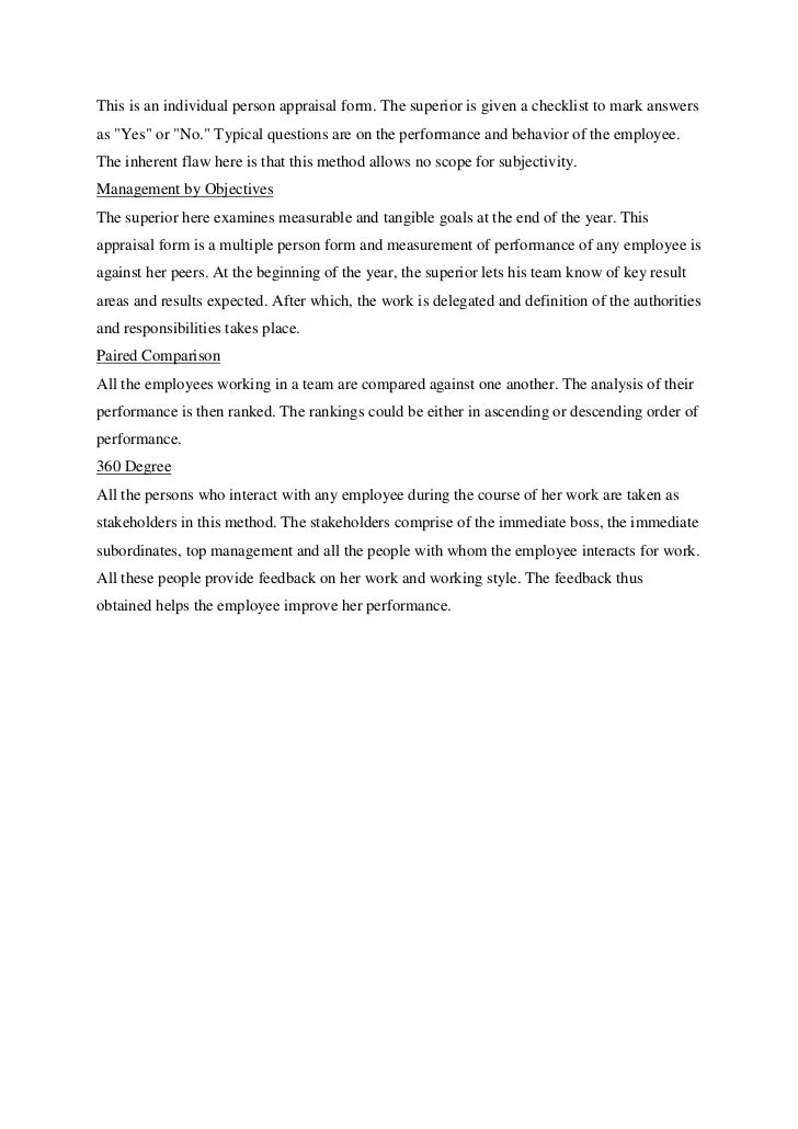 solved case study on performance appraisal