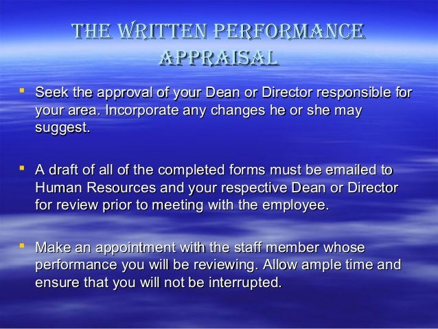 report on performance appraisal of beximco Performance appraisal methods performance appraisals and job analysis relationship here the report is given in the form of annual confidentiality report.