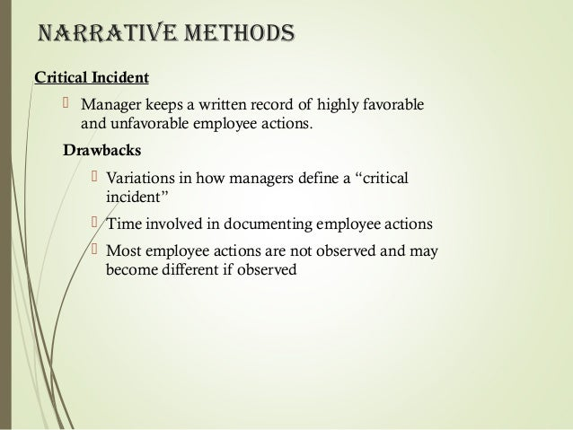Performance appraisals and management