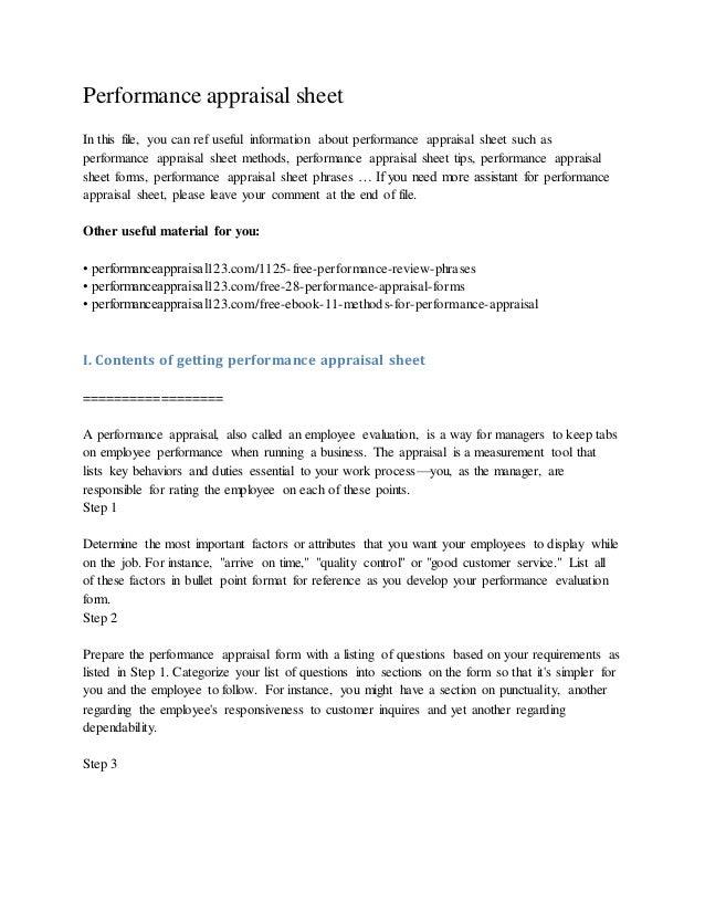 performanceappraisalsheet1638jpgcb 1425040580 – Appraisal Sheet