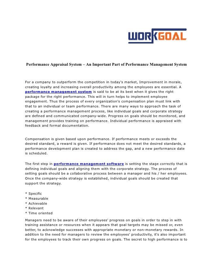 team performance appraisal system
