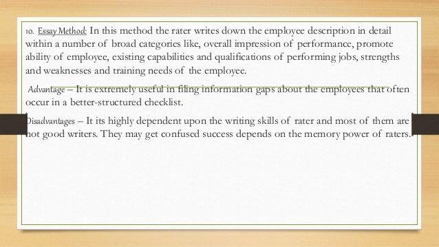 performance apraisal interclean essay