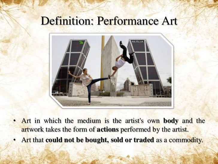 Image result for performance art definition