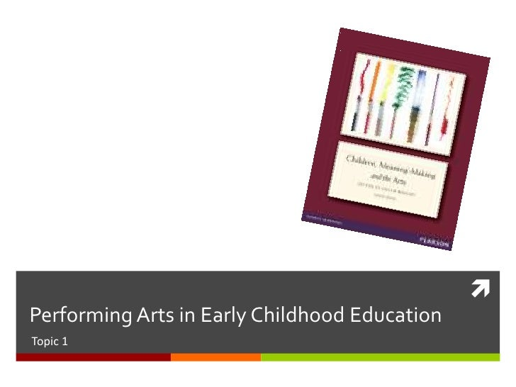 Performing Arts in Early Childhood EducationTopic 1