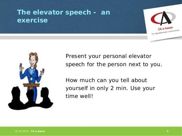 preparing your elevator speech