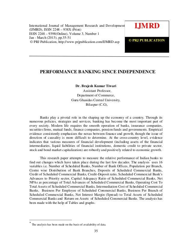 International Journal of Management Research and Development (IJMRD) ISSN 2248-938X (Print), ISSN of Management Research a...