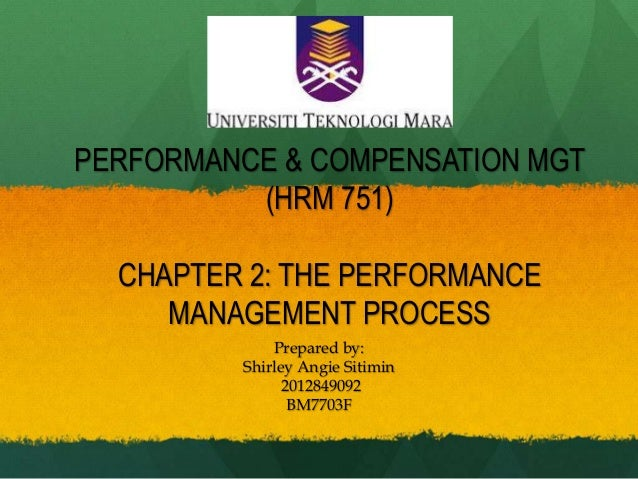 PERFORMANCE & COMPENSATION MGT (HRM 751) CHAPTER 2: THE PERFORMANCE MANAGEMENT PROCESS Prepared by: Shirley Angie Sitimin ...