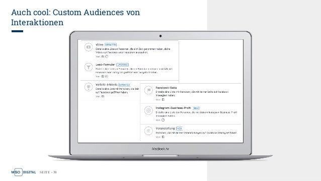 SEITE - 30 Auch cool: Custom Audiences von Interaktionen