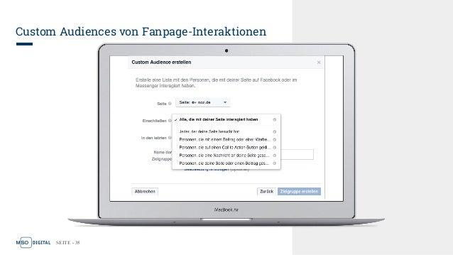 SEITE - 35 Custom Audiences von Fanpage-Interaktionen