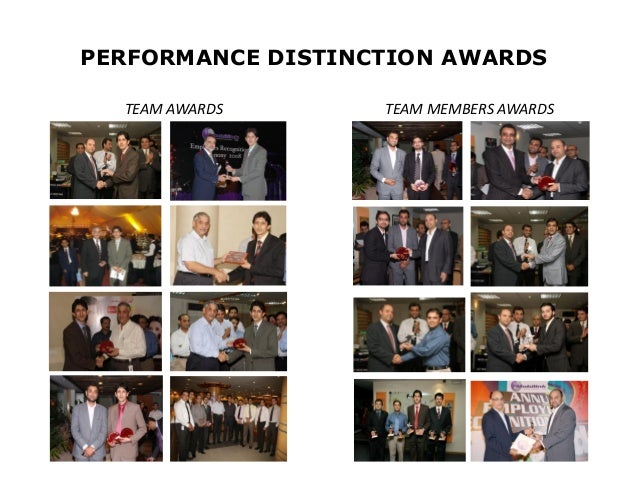 PERFORMANCE DISTINCTION AWARDS  TEAM AWARDS      TEAM MEMBERS AWARDS