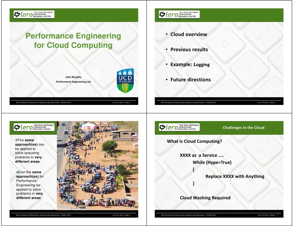 Performance Engineering                                                                  • Cloud overview                 ...