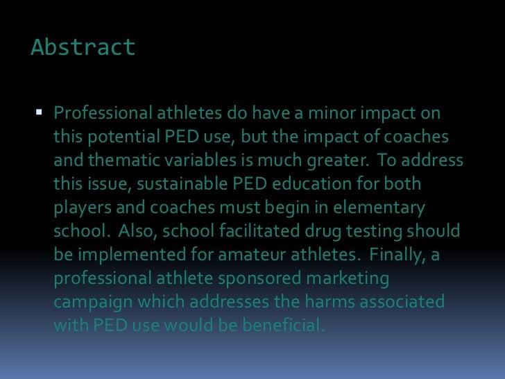Should athletes take performance enhancing drugs essay