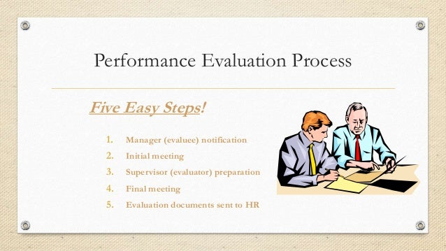 evaluation performance evaluation performance e The process will document specific performance and behavior improvements that are complete a performance evaluation for each of their staff by june 15th.
