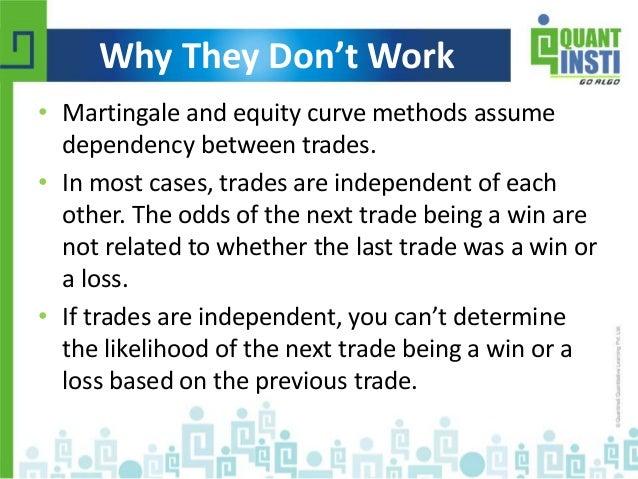 Anti martingale trading strategy