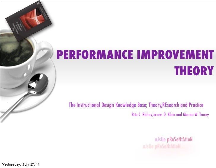 PERFORMANCE IMPROVEMENT                                          THEORY                          The Instructional Design ...