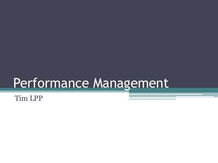 Performance ManagementTim LPP