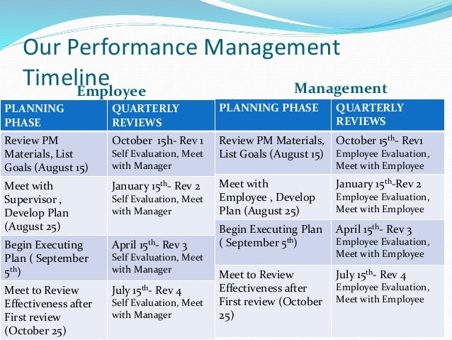 performance management plan About performance management an important component of developing employees is a comprehensive and well executed performance management system incorporating elements such as regular one-to-one meetings, through to performance appraisals and processes to manage underperformance.