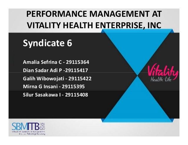 Performance Management at Vitality Health Enterprises, Inc., Spanish Version Case Solution & Answer