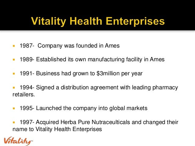 vitality health enterprises Case solution for performance management at vitality health enterprises, inc by john b bingham, michael beer is available at best price contact us at buycasesolutions (at) gmail (dot) com.