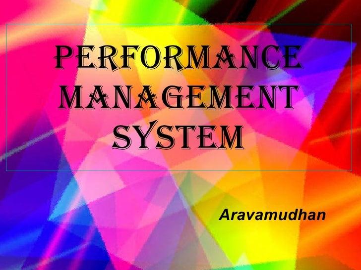 Performance Management system Aravamudhan