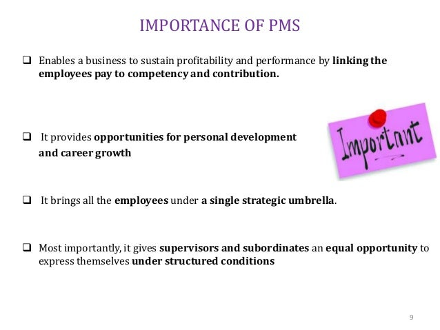 importance of performance management pdf