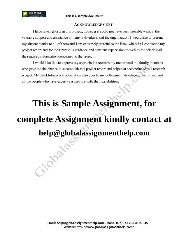 Operation management assignment report writing