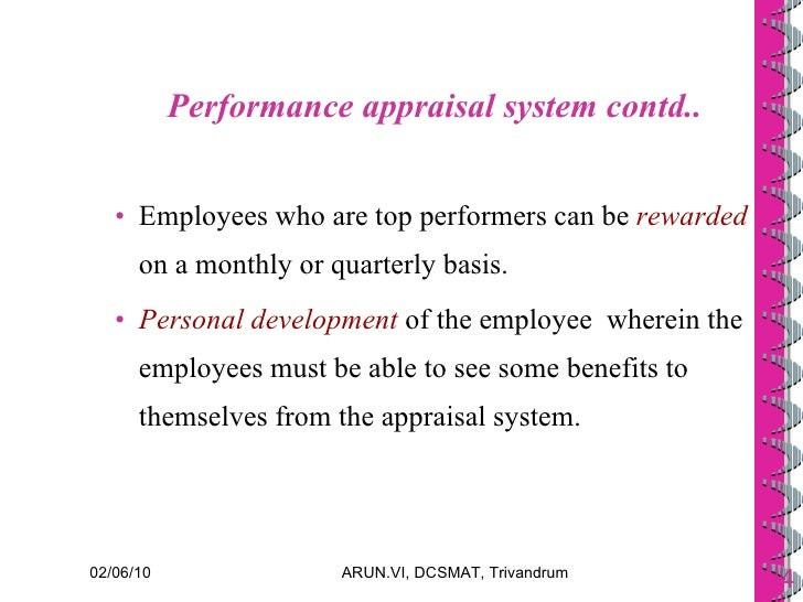 scope of performance appraisal system In this video interview, we have invited mr p k gupta-general manager-hr at tek corp limited to discuss performance management system in manufacturing compa.